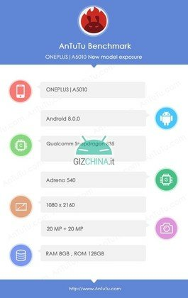 OnePlus 5T Specifications Leaked Via New AnTuTu Screenshot