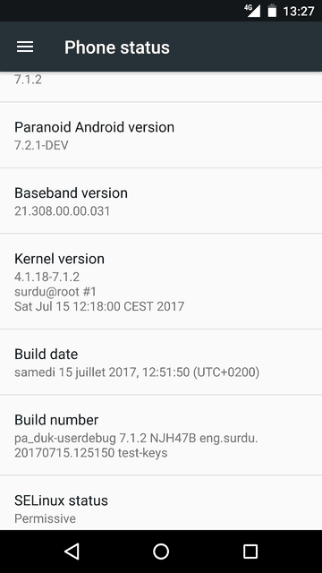 How to install Paranoid Android 7.2 on Sony Xperia Z1 Compact (amami)
