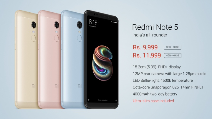 Features Of Xiaomi Redmi Note 5 And Redmi Note 5 Pro