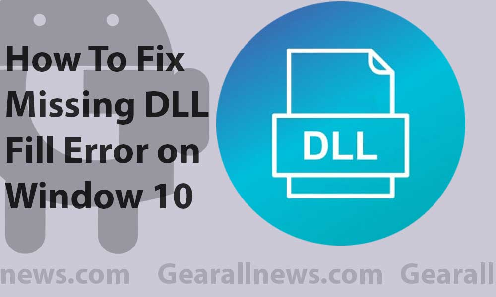 How to fix missing DLL files Error on windows 10 | Guide