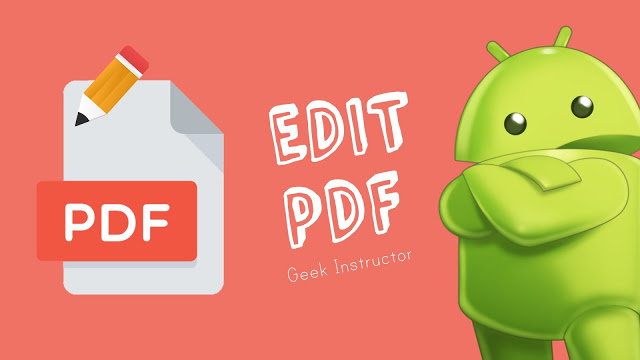 How to Edit PDF Files In Android